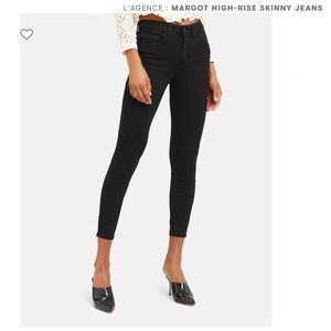 L'AGENCE Margot high rise ankle black skinny jeans